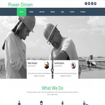 绿色基建网站模板