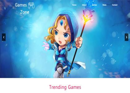 蓝色游戏网站模板