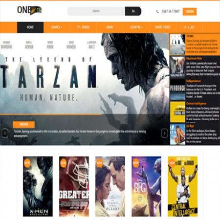 橙色影视网站模板