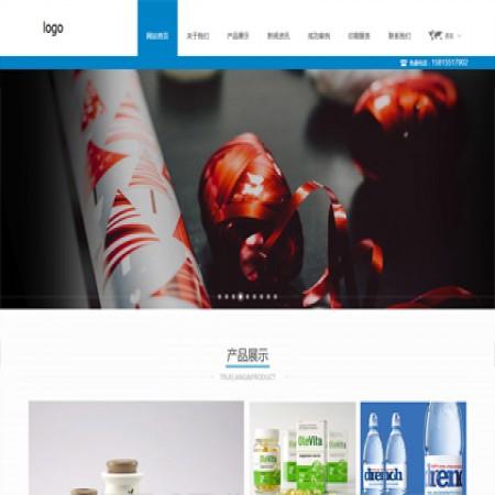 蓝色印刷公司网站模板