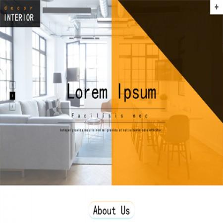 橙色装饰公司网站模板