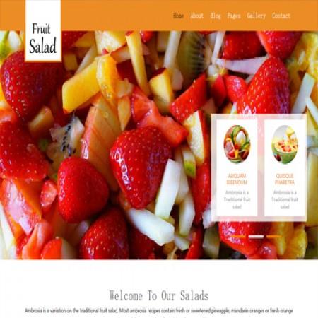 橙色水果店公司网站模板