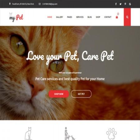 红黑色宠物医院网站模板