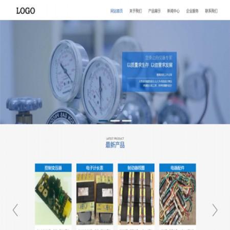 蓝色机械生产企业模板