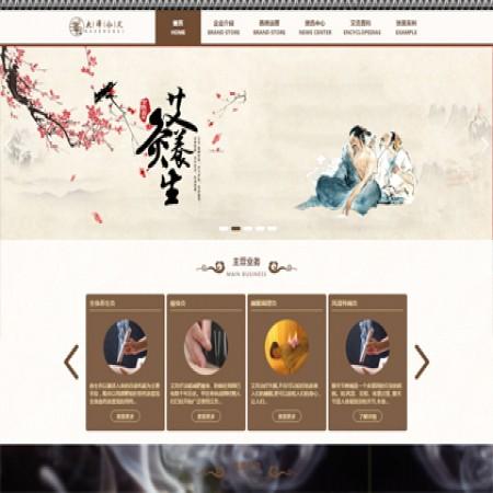 棕色养生馆网站模板