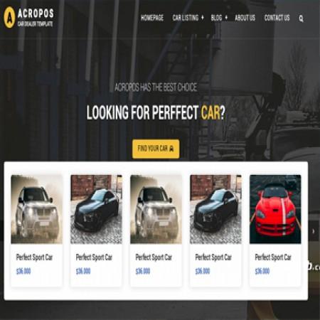 汽车交易公司网站模板