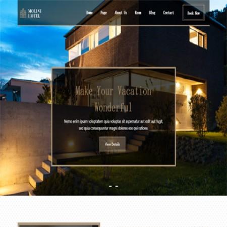 棕色民宿公司网站模板