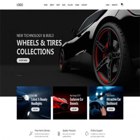 黑色汽配外贸网站模板