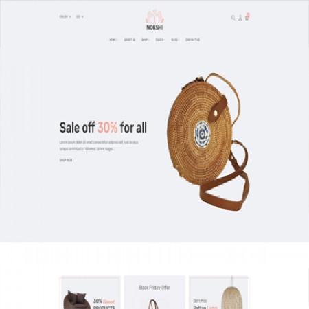 米色手工艺品外贸网站模板