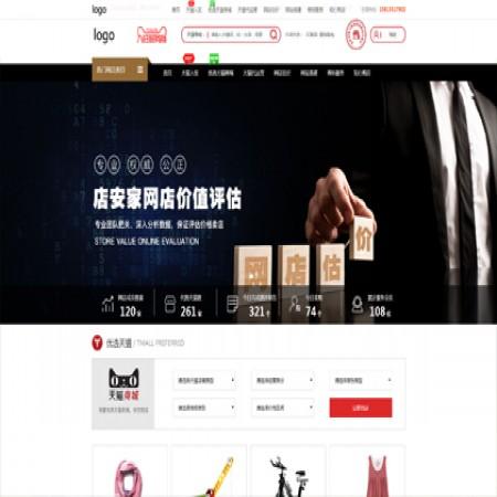 红色电商服务公司网站模板