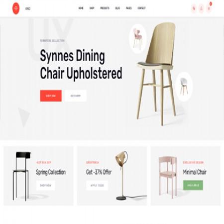 米色外贸家具商城网站模板