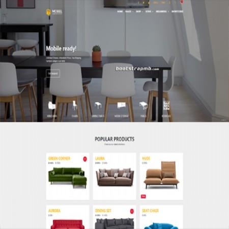 黄色创意家具网站模板