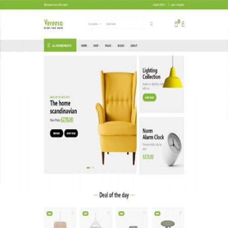 绿色灯具商城网站模板
