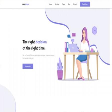 紫色咨询公司网站模板