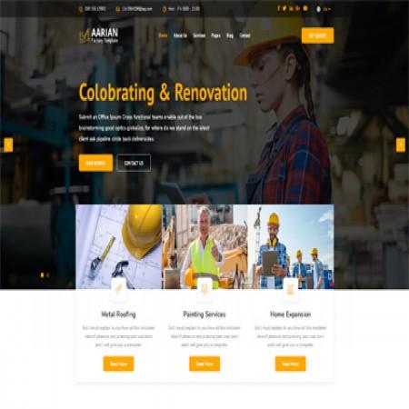 橙色建筑公司网站模板