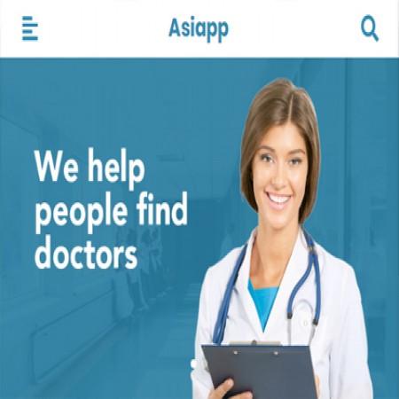 蓝色手机网站模板