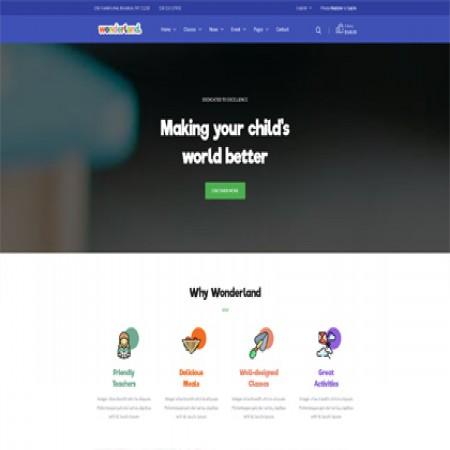 蓝紫色幼教机构网站模板
