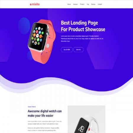 紫色电子产品推广单页模板