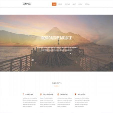 橙色公司介绍单页网站模板