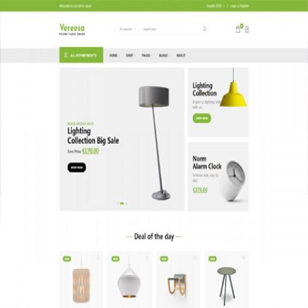绿色外贸电商网站模板