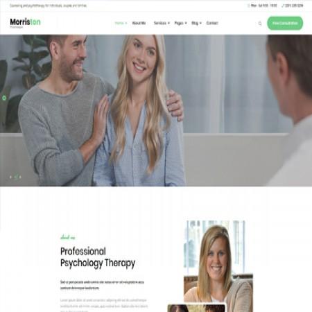 绿色心理治疗网站模板