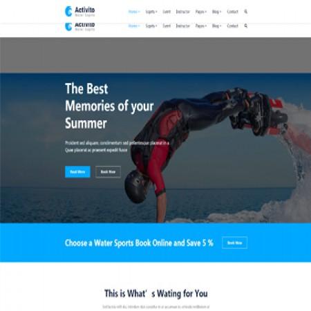 蓝色运动俱乐部网站模板