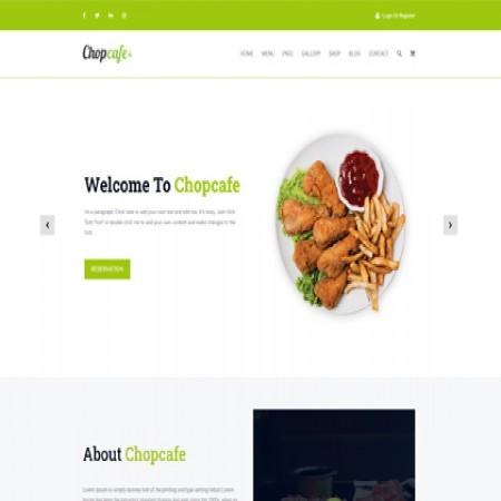 绿色餐饮企业网站模板