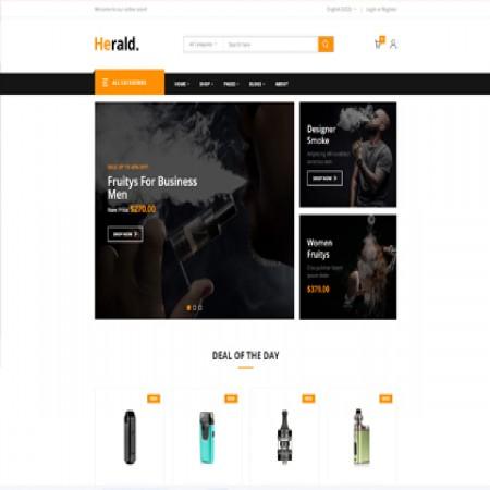 电子烟外贸网站模板