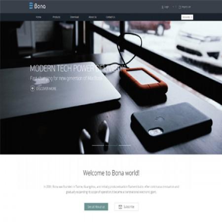 3C数码产品外贸自适应网站