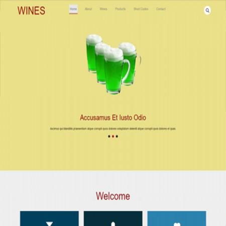 棕色酒类生产厂家网站模板