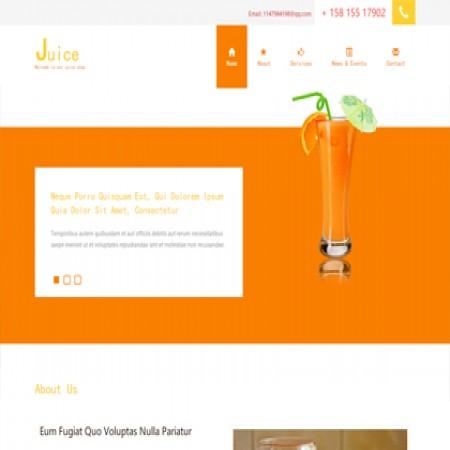 橙色果汁店单页